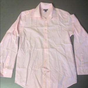 BOYS LONG SLEEVED PINK BUTTON DOWN SHIRT